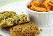 Zucchini Patties With Sweet Potato Strips