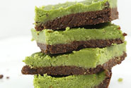 Vegan Matcha Brownie Squares