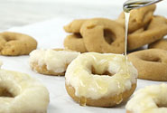 HONEY GLAZED CAKE BATTER DOUGHNUTS