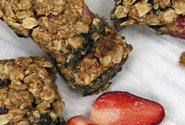 Coconut and Mixed Berries Oatmeal Squares