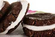 Chocolate And Coconut Ice Cream Sandwich