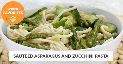 Spring Recipe Favorites: Sauteed Aspargus Pasta