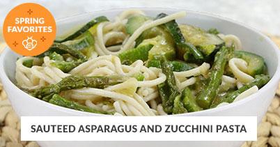 Spring Recipe Favorites: Sauteed Aspargus Pasta