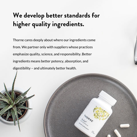 We develop better standards for higher quality ingredients.