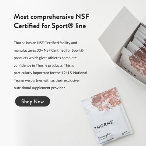 Most comprehensive NSF Certified for Sport line.