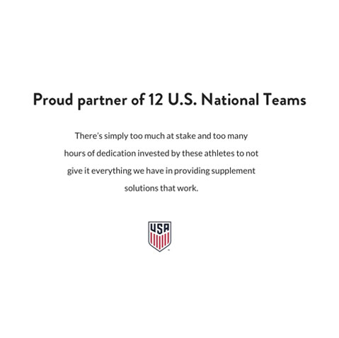 Proud partner of 12 U.S. National Teams.