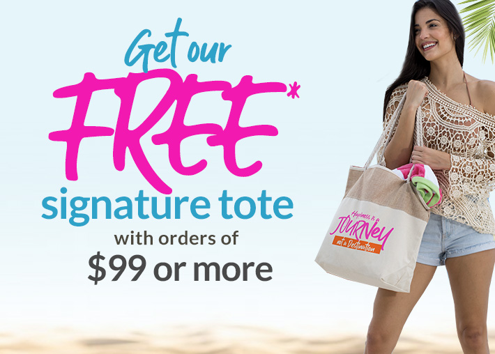 Get a FREE Summer Bag with orders of $99 or more - Click here to pick your bag