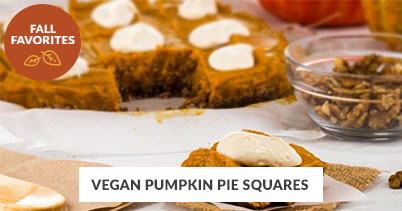 Fall Recipe Favorites: Pumpkin Pie Squares